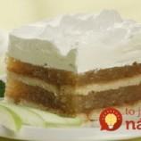 Nepečený jablkovo-pudingový koláč