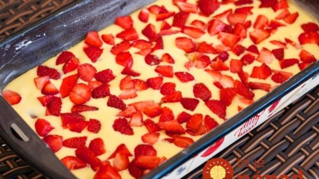 7-minútový jahodový koláč