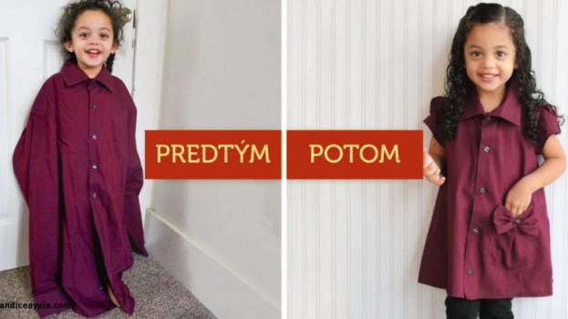 Zvládne to aj začiatočník: Premente starú pánsku košeľu na krásne šaty pre dievčatko!