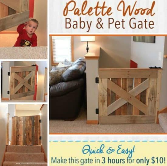 Pallet-Wood-Baby-and-Pet-Gate-Free-Plans--550x546