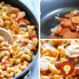 Z JEDNEJ PANVICE: Rýchle cestoviny s klobásou, syrom a paradajkami