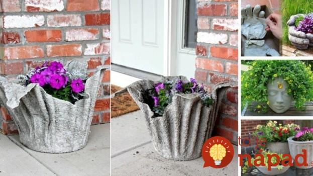 Kvetináče za pár centov z betónu: 5 jednoduchých návodov, ako si ich môžete vyrobiť aj vy!