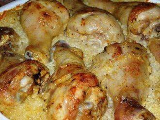 Obed 2v1: Kuracie stehná s ryžou pečené na jednom plechu