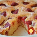 5-minútový kefírový koláč s ovocím