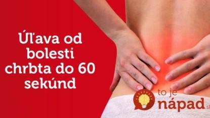 Úľava od bolesti chrbta do 60 sekúnd: Pomôžu tieto jednoduché cviky