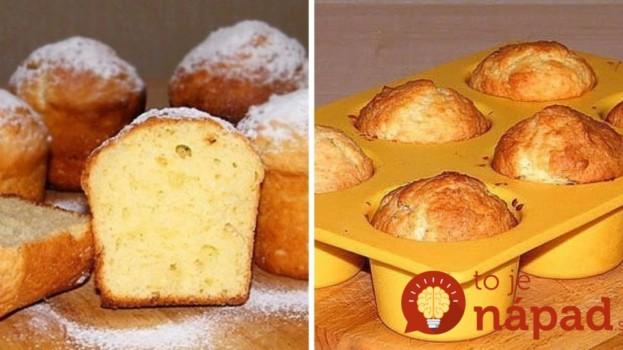 Nadýchané tvarohovo-smotanové muffiny