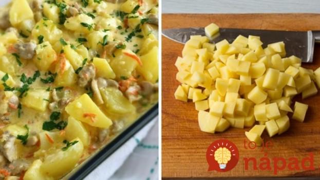 Smotanové zemiaky zapečené s kuracími stehienkami!