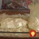 Zemiakový kastról s mäsom a smotanovou omáčkou!