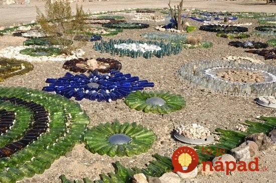 wine-bottles-garden-decoration-ideas-colored-glass