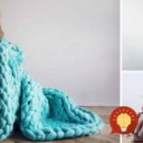 Ako upliesť teplú deku alebo prikrývku za menej ako 4 hodiny?