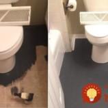 Na premenu kúpeľne jej stačili len 2 plechovky farby: Výsledok je skutočne luxusný!