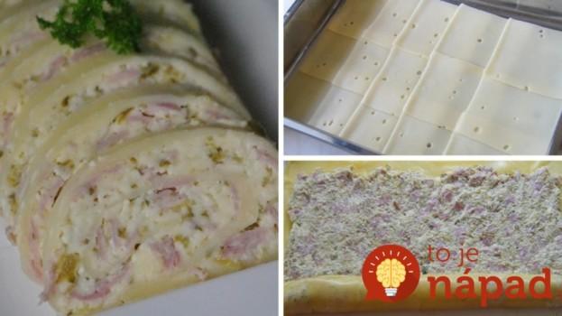 Jemná roláda z plátkového syra a chutnej náplne!