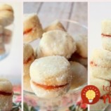 Bez vajec: Vanilkové kolieska plnené marmeládou