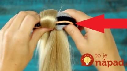 Nekupujte drahé vlasové doplnky: Perfektný účes vytvoríte za 42 sekúnd, len pomocou PONOŽKY!