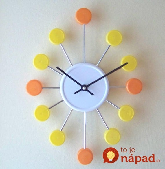 bottle-cap-clock