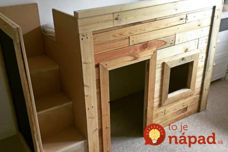 kids-playhouse-pallet-bed