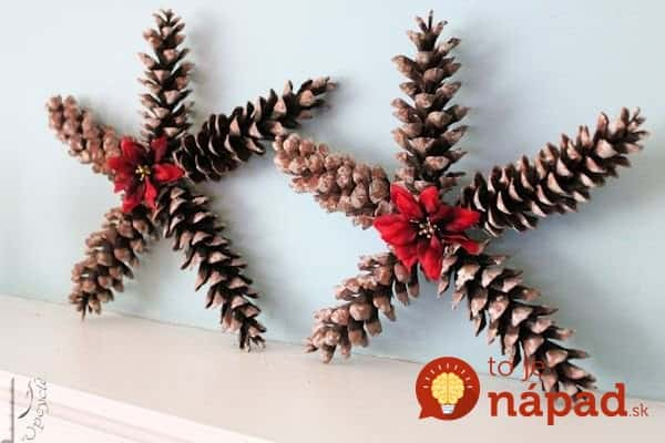 christmas-star-decorations-using-pine-cones-christmas-decorations-crafts-seasonal-holiday-decor