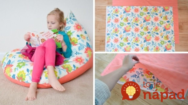 Hotový za 30 minút: Vyrobte svojím deťom pohodlný sedací vak, je to jednoduché!