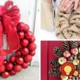 Na poslednú chvíľu: Vyrobte si krásny vianočný veniec na vchodové dvere z toho, čo nájdete doma!