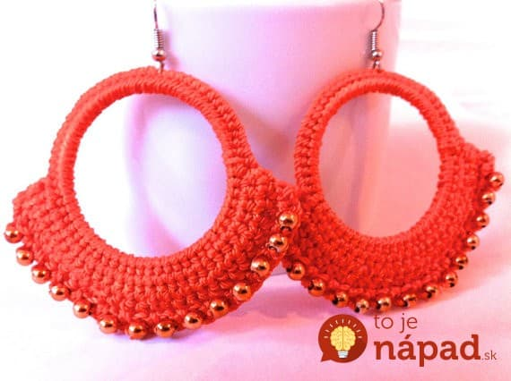 new-red-color-crochet-earrings-gift-for-her