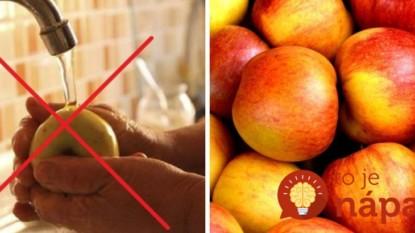 Umyť vodou nestačí: 3 jednoduché triky, ako ovocie zbaviť chémie!