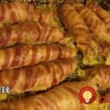 Plnené kuracie mini rolky obalené v slaninke