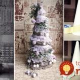 Vyrobte si na stôl nádherný vianočný stromček v štýle vintage: Zvládnete to za pár minút!