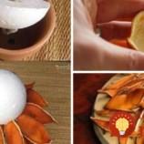 Vzala niekoľko šupiek z pomaranča a vytvorila úžasnú voňavú dekoráciu na stôl: Môžete ju mať aj vy, celkom zadarmo!