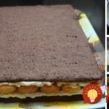Krémový koláč s piškótami a čokoládou!