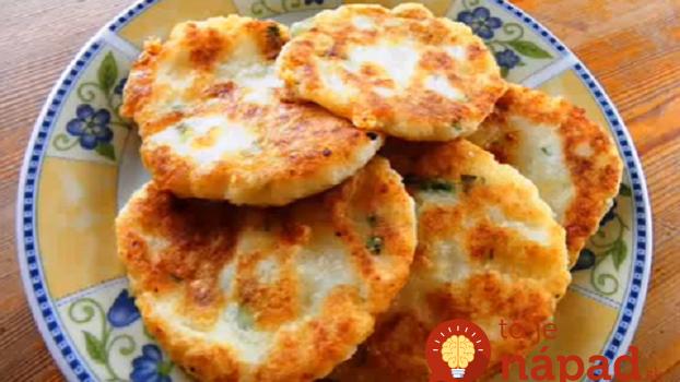 Pečené bez oleja: Mini-zemiakové placky z varených zemiakov!