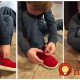 5-ročný chlapec predstavil vlastný trik, ako si uviazať šnúrky. Je jednoduchší ako dospelácke metódy a budete ho chcieť ovládať aj vy