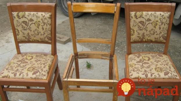 Na povale našla 3 staré stoličky: Pozrite sa, čo z nich dokázala vytvoriť za pár hodín!