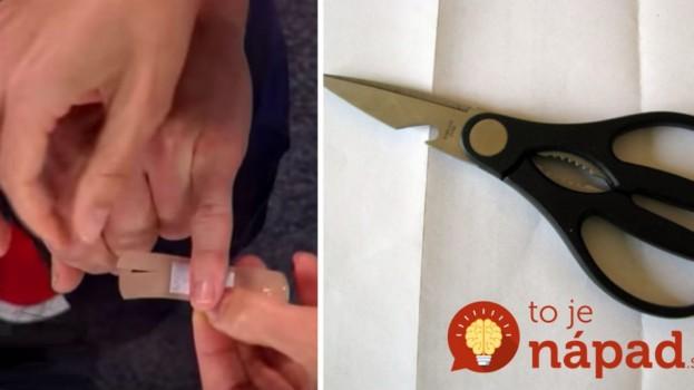 Lekár vám predvedie jednoduchý trik s nožnicami, vďaka ktorému bude náplasť na prste perfektne držať!