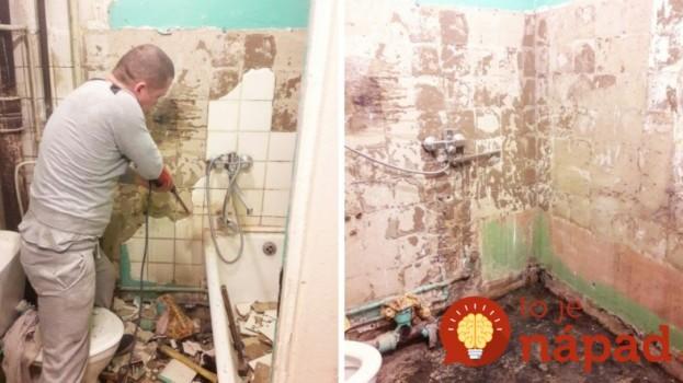 50-ročná mini kúpeľňa bola v hroznom stave: Manželia ju takto úžasne prerobili len za 4 dni!