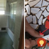 Muž začal lepiť kúsky dlaždíc do sprchového kúta: Toto dokázal vytvoriť s minimálnymi nákladmi!