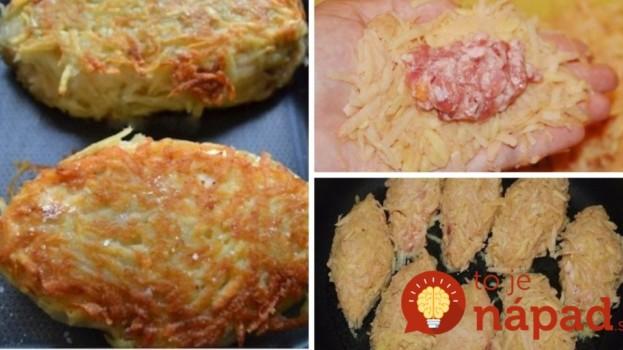 Perfektný tip, ako pripraviť fašírky: Pridajte mrkvu a zabaľte ich do strúhaných zemiakov, chutia fantasticky!