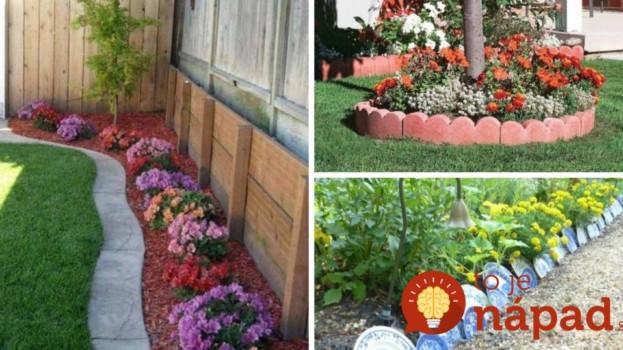 Vďaka tomuto bude vyzerať omnoho krajšie: 31 krásnych nápadov ako oddeliť záhony v záhrade!