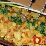 Extra chrumkavé vďaka jednej prísade: Výborné pečené zemiaky so zelenou cibuľkou!