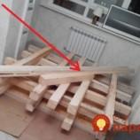 Do izby priniesol drevené hranoly a náradie: Stačilo pár hodín a prázdny priestor premenil na rozprávkové miesto!