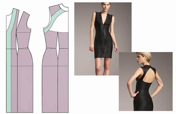 Как сделать платье с v образным вырезом