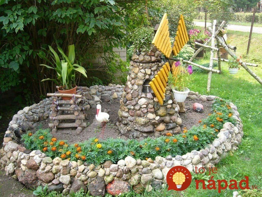 Декор из камня в саду своими руками 48