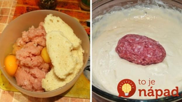 Mleté mäso zmiešala so staršou knedľou a obalila v smotanovom cestíčku: Také výborné fašírky ste ešte nejedli!