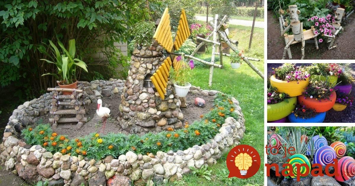 Садовые поделки своими руками с фото 86