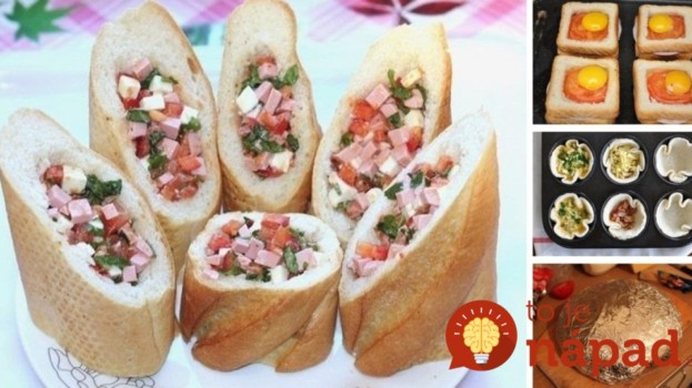 Namiesto obyčajných obložených chlebíkov: 9 tipov na rýchle pohostenie z pečiva, ktoré chutí výborne!
