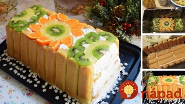 Top smotanová torta s ovocím: Stačí vyklopiť z formy a fantastický dezert je na svete!