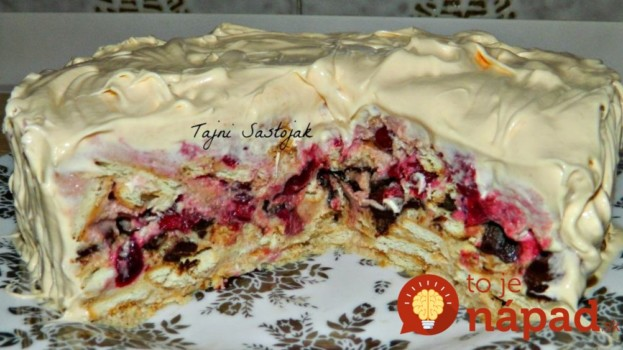 Rýchla keksíková torta s jogurtom a višňami: Hotová skôr, ako vám zovrie voda na kávičku!