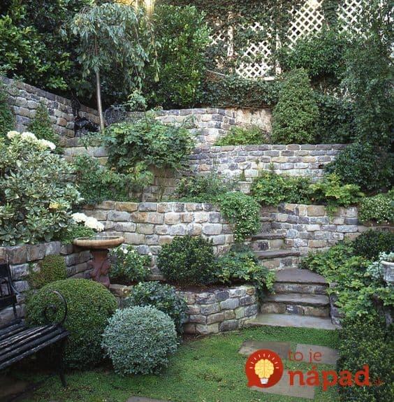 Garden Design For Sloped Garden Ideas: Úžasné Kaskádovité Záhony Z Kameňov: 21 Krásnych Nápadov