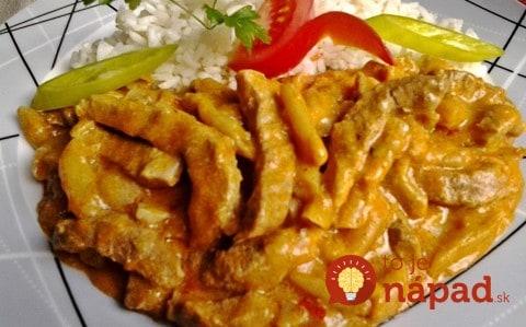 Krehučké bravčové mäso na rumunský spôsob: So slaninkou, fazuľou a jemnou omáčkou!