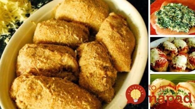 Fantastické kuracie kapsy so syrom a špenátom, pripravené v rúre!