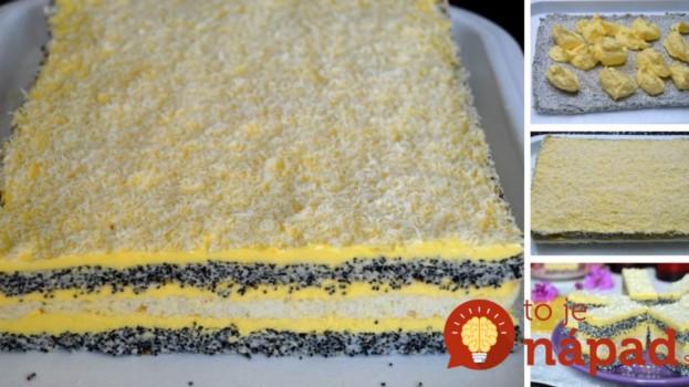 Makové pláty s vanilkovým krémom a bielou čokoládou: Nebesky chutný zákusok!